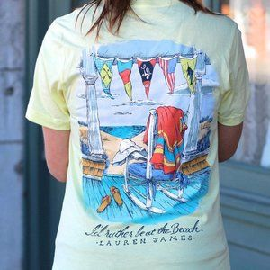 Lauren James I'd Rather Be At The Beach Pocket Tee